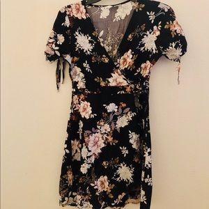 Women's Tilly's Floral Sky & Sparrow Wrap Dress